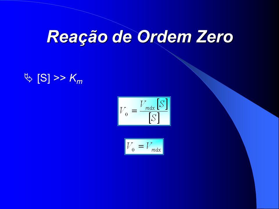 Reação de Ordem Zero [S] >> Km